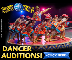 Ringling Bros. and Barnum and Bailey Dancer Auditions - Australia