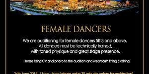 Audition flyer June 2015 (Dancers)