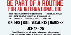 Copy of be part of a routine for an international bid