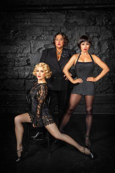 CHICAGO Australian cast NATALIE BASSINGTHWAIGHTE, CASEY DONOVAN, & ALINTA CHIDZEY. Photo by Peter Brew-Bevan