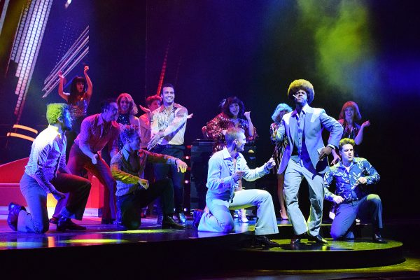 Cast of Saturday Night Fever CREDIT HEIDI VICTORIA