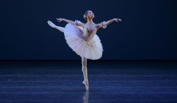Grace Carroll performing 'Paquita' variation. Image VAM Productions courtesy YAGP.