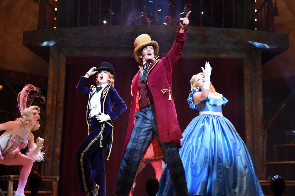 BARNUM Australian Production- Kirby Burgess, Todd McKenney, Susie Mathers. Photo Jim Lee